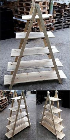 Pallets pots decor stand is another recycled pallets wood extraordinary and mind-blowing creation. It is best pallets project to keep inside your lounge, room and even good to keep in your garden for vertical arrangement of flowering pots. This is another simple pallets project that can be easily crafted with the use of pallets wood stacks, few nails and a glue gun. #pallets #woodpallet #palletfurniture #palletproject #palletideas #recycle #recycledpallet #reclaimed #repurposed #reused…