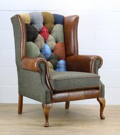 This Patchwork McKenzie Harris Tweed Armchair is just one of the custom, handmade pieces you'll find in our furniture shops. Handmade Furniture, Unique Furniture, Furniture Decor, Furniture Removal, Classic Furniture, Furniture Outlet, Discount Furniture, Vêtement Harris Tweed, Patchwork Chair