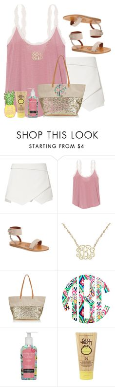 """""""Tropic like it's hot😉🏝️🔥"""" by livnewell ❤ liked on Polyvore featuring Victoria's Secret, K. Jacques, Accessorize, Neutrogena, Sun Bum and Guy Harvey"""