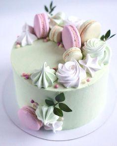 No photo description available. Pretty Cakes, Cute Cakes, Beautiful Cakes, Amazing Cakes, Fancy Cakes, Mini Cakes, Cupcake Cakes, Macaron Cake, Modern Cakes