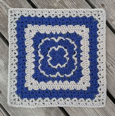 "This square was originally designed to be 12"" x 12"". You can work it in a smaller or larger size yarn with an appropriate size hook, just be sure all your squares that you are joining together work well with each other."