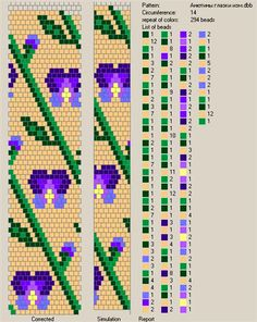 Free pattern for beaded crochet rope Iris by FlyPetra | Beads Magic