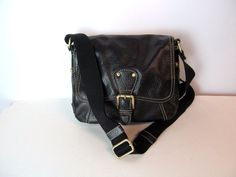 TOMMY HILFIGER Black Pebbled Faux Leather Crossbody Bag Purse Handbags #TommyHilfiger #MessengerCrossBody