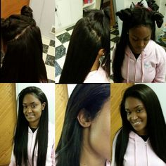 This is a full sew in with a frontal you can part it any kind of way