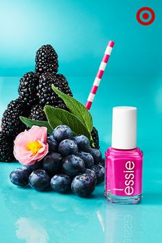Berries are the perfect ingredient for a bright mojito-inspired manicure. Just add a few coats of Coacha'bella nail polish color from essie, and you've got a sweet mani/pedi all summer long.