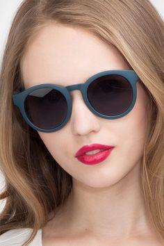 62d1269eebae5 Matte Blue Round Prescription Sunglasses-Large Plastic Eyewear-Oasis