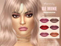 The Sims Resource: Kylie Valentine collection - Matte Lipsticks Mini Kit by serenity-cc • Sims 4 Downloads