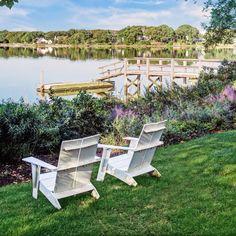 Sag Harbor Dream Homes: Stunning Hamptons Homes Harbor Village, Seaside Village, Harbor Beach, Sag Harbor, Hamptons House, The Hamptons, Floating Staircase, Waterfront Property, Outdoor Furniture Sets