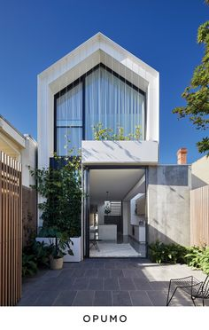The Cable House by Tom Robertson Architects - Australian Architecture Minimal House Design, Modern Small House Design, Modern Townhouse, Townhouse Designs, Facade Design, Architecture Design, Computer Architecture, Enterprise Architecture, Australian Architecture