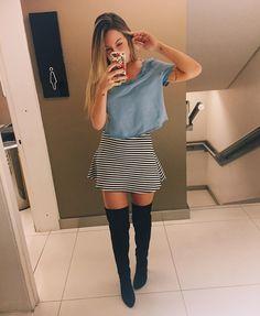 "JOANA PALADINI no Instagram: ""Listras + jeans @cea_brasil"" | Look romântico e sexy ao mesmo tempo"