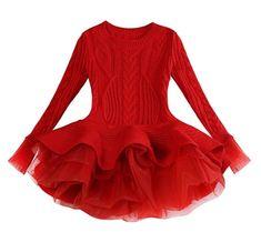 Toddler Girl Sweater Long Sleeve Princess Dress 2020 Autumn Winter Kids Dresses For Girls Party Dress Children Clothing vestidos 1 Long Sweater Dress, Knit Dress, Sweater Dresses, Dress Long, Jumper Dress, Mesh Dress, Sweater Outfits, Girls Sweaters, Long Sweaters