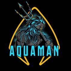 Justice League Comics, Dc Comics Heroes, Dc Comics Art, Aquaman Film, Aquaman Logo, Aquaman 2018, Team Logo Design, Cute Wallpaper Backgrounds, Marvel Art