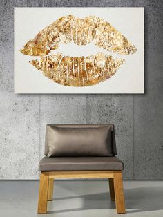 Oliver Gal Solid Kiss Canvas Art by Oliver Gal Gallery for makeup room Bedroom Decor, Wall Decor, Wall Art, Bedroom Ideas, Gold Bedroom, White Bedroom, Wall Mural, Glam Room, Home And Deco