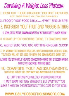 Surviving A Weight Loss Plateau