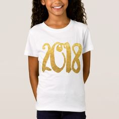 2018 Faux Gold Brush Script T-Shirt - fancy gifts cool gift ideas unique special diy customize