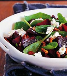 goats, paleo summer salads, spinach salad, cook foodist, summer spinach, beetroot salad, apples, goat cheese, honey recipes