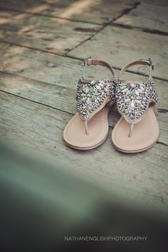 flat sandals - most comfortable wedding shoes!