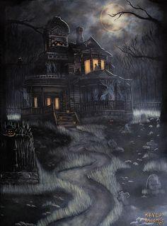 haunted house art