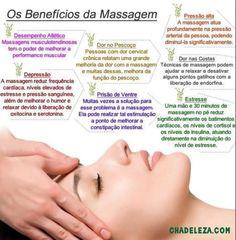 Alguns benefícios das massagens www.chadebeleza.com