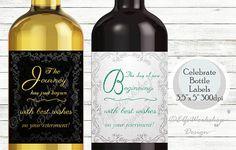 Retirement label Wine bottle label for Retirement party