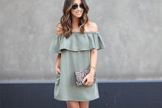 Topshop off the shoulder dress