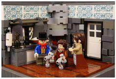 Lego Christmas Carol - The Cratchits Ghost Of Christmas Past, Lego Christmas, Christmas Carol, Lego Hogwarts, Lego Furniture, Good Humor, Lego Moc, Legos, Vignettes