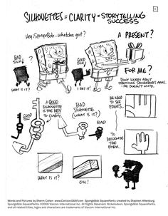SpongeBob #Tutorial 01 Silhouette by shermcohen.deviantart.com on #DeviantArt
