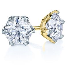 0.50 cts VS Clarity Natural Sparkling Gorgeous Diamond Earring In 14Kt Gold