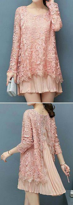 63 Ideas dress brokat lace simple for 2019 Trendy Dresses, Simple Dresses, Beautiful Dresses, Nice Dresses, Hijab Fashion, Fashion Dresses, Kebaya Lace, Kebaya Hijab, Kebaya Dress