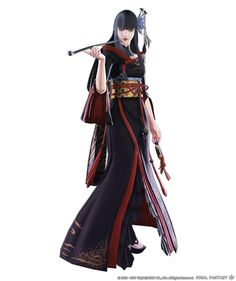 View an image titled 'Yotsuyu Render' in our Final Fantasy XIV: Stormblood art gallery featuring official character designs, concept art, and promo pictures. Final Fantasy Xiv, Final Fantasy Characters, Fantasy Art, Art Final, Character Art, Character Design, Character Creation, Concept Art Gallery, Ms Marvel