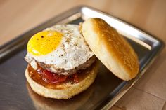 Breakfast burger at Mile End Sandwich (Photo: Virginia Rollison)