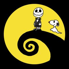 Charlie Brown and Snoopy as Jack Skellington and Zero from Nightmare Before Christmas Snoopy Halloween, Halloween Art, Charlie Brown Halloween, Happy Halloween, Jack Skellington, Charlie Brown Et Snoopy, Snoopy Et Woodstock, Jack Y Sally, Peanuts Characters