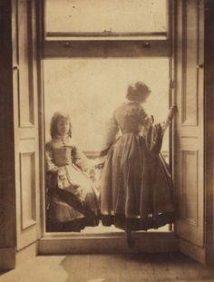 Two of her three daughters pose in this shot.  Photographs by Lady Clementina Hawarden