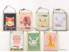 Assorted Baby Animals Wall ART Plaques - Baby Nursery Wall ART decoration - Shabby Chic Cottage Decor on Etsy, $9.00 each