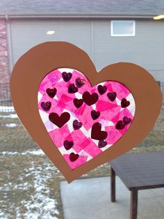 """""""Stained glass"""" Valentine's Day heart"""