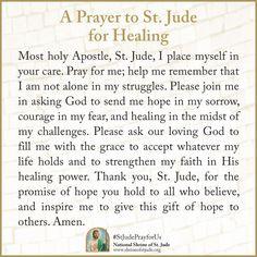 A St. Jude #Prayer for #Healing #StJudePrayforUs