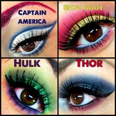 Avengers Makeup <3 hulk iron man thor captain america