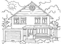 The Best House Coloring Pages