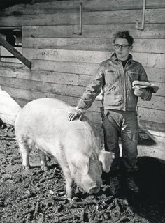 USA. Indiana. Fairmount. 1955. James Dean on the farm of his uncle Marcus Winslow in Fairmount. Photo by Dennis Stock.