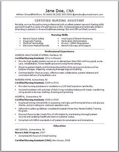 Captivating If You Think Your CNA Resume Could Use Some TLC, Check Out This Sample  Resume