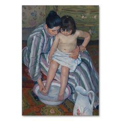 The Child's Bath by Mary Cassatt Table Cards