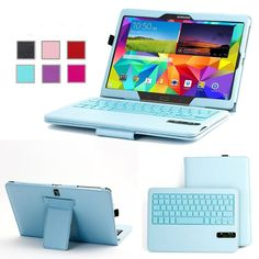 Bluetooth Keyboard Detachable ABS Case For Samsung Galaxy Tab S 10.5 inch Blue