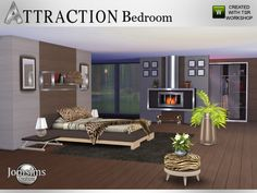The Sims Resource: Attraction Bedroom by JomSims • Sims 4 Downloads