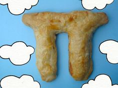 Pi-Shaped Pie -- Jessie Oleson of Cakespy created a recipe to celebrate Pi Day in 2011. This one is more of a big turnover, filled with chocolate and peanut butter. The instructions are at Serious Eats.