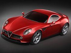 Alfa Romeo 8C Competizione MidPoly Sport Cars, Race Cars, Alfa Romeo 8c, Premium Cars, Bugatti, Cars And Motorcycles, Ferrari, 3 D, Classic Cars