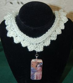 Altered Art Fairy Domino Pendant and Choker