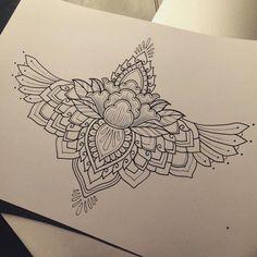 ideas tattoo sleeve women mandala thighs for 2019 Hawaiianisches Tattoo, Nape Tattoo, Tattoo Hals, Sternum Tattoo, Cover Tattoo, Arrow Tattoos, Foot Tattoos, New Tattoos, Girl Tattoos