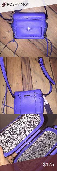 Selling this Nwt Rebecca minkoff periwinkle purse on Poshmark! My username is…