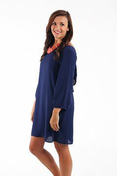 The Mint Julep Boutique- A Grand Affair Dress in Navy