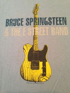 #BruceSpringsteen & The #EStreetBand 2005 T Shirt  EUC Blue Yellow Adult Large #Hanes #GraphicTee